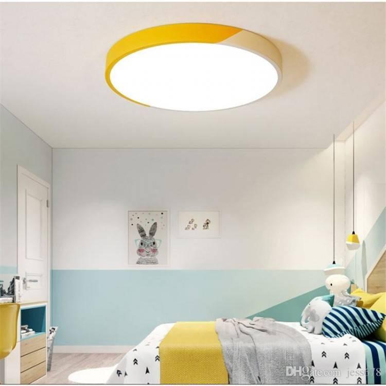 Großhandel 2019 Neue Moderne Ultradünne Doppelte Farbe Led Deckenleuchten  Eisen Platz Runde Deckenleuchten Für Wohnzimmer Schlafzimmer  Innenbeleuchtung Von