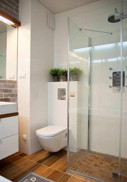 Badezimmer Ideen für kleine Bäder – Fototapete als Wanddeko