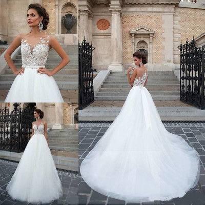 Luxus Neckholder Brautkleid aus Satin, Organza und Spitze