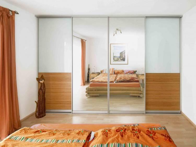 Wohnkultur Schlafzimmer Einbauschrank Spiegelschrank Grau