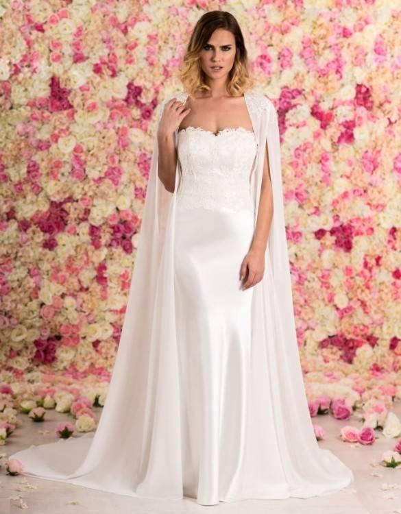 Großhandel Janevini Top Bolero Libanon Hochzeitskleid Cape Spitze Bolero Wraps Boleros Weiß Perlen Hals Braut Bolero Frauen Shrug Jacke 2018 Mariage Von