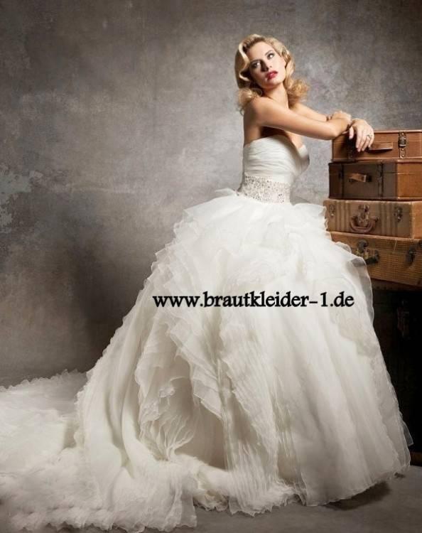 Hochzeitskleid 90er Tüll edel 5