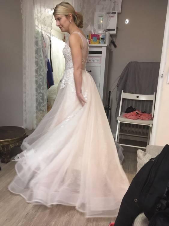 Erröten Boho Vintage inspiriert voll Lace Mermaid Hochzeitskleid