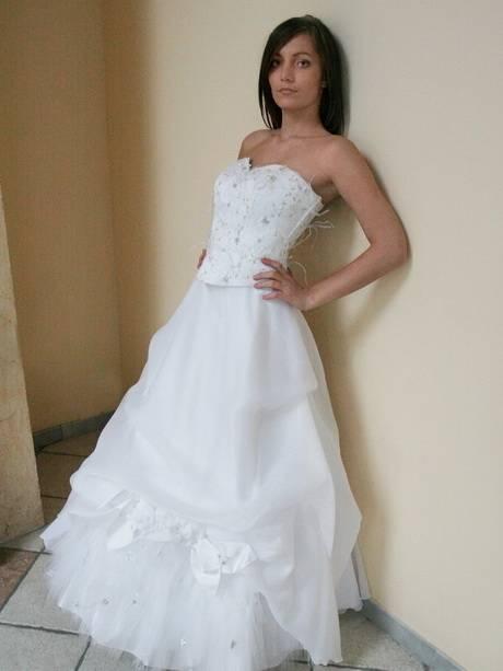 Brautkleid/Hochzeitskleid Corsage mit Swarovski Kristallen 5