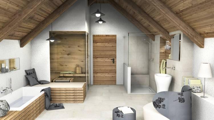 Badezimmer einrichten und dekorieren im rustikalen Landhausstil