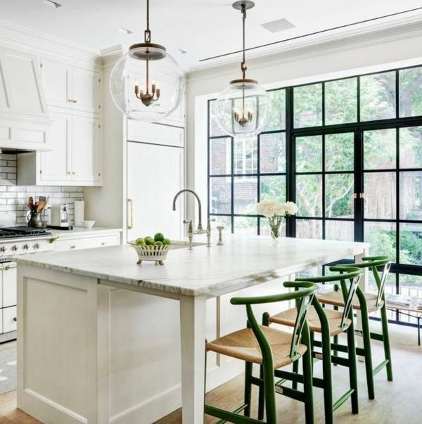 160 neue Küchenideen: Blaue und grüne Farbe