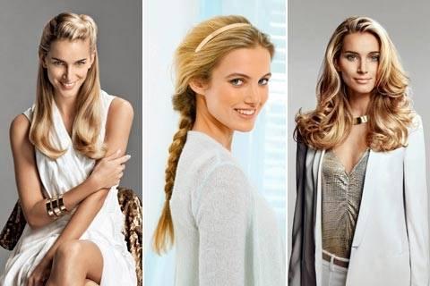 Einfache Frisur  für lange Haare