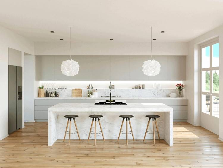 Offene Küche mit Wohnzimmer #küche #deutschküche #küchenbau