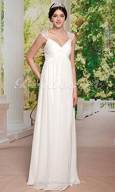 Großhandel 2018 Neue Elegante Weiße Spitze Mermaid Brautkleider Perlen V Ausschnitt Backless Brautkleider Nach Maß Einfach Sweep Zug Brautkleider Von