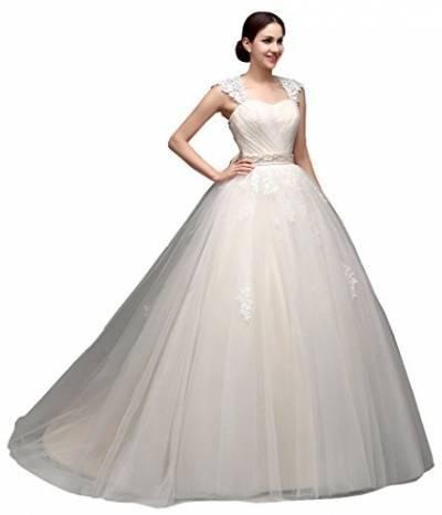 LS03677 luxus brautkleider lange züge lange kap spitze ball kleid korsett zurück robe de mariage ivory