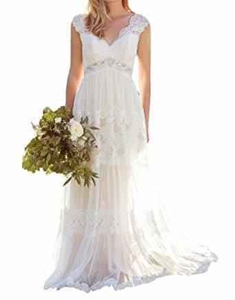 Großhandel Tee Länge Spitze Hochzeitskleid Elfenbein Farbe Der 1950er Jahre  Vintage Style Kurze Kleider Für Die Braut Nach Maß Von Freespirit,