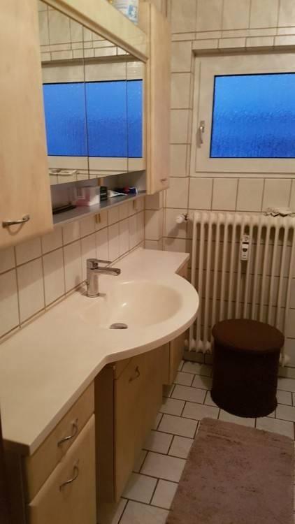 Vorschau: Badezimmermöbel Set mit Waschbecken und Spiegelschank 120 cm