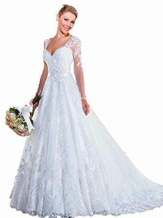 Großhandel Vintage Light Champagner Brautkleider 2018 Eine Linie Sommer Strand Brautkleider Empire Illusion Jewel Neck Sweep Zug Von Kissbridal001,