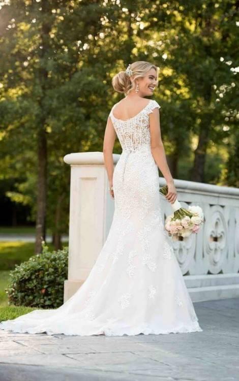 Luxus Meerjungfrau Hochzeitskleid mit 3D Blumen Sheer Neck Vestido De Novia lange Ärmel plus Size Brautkleider