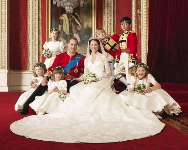 Herzogin Catherines Hochzeitskleid war ein Traum in Weiß