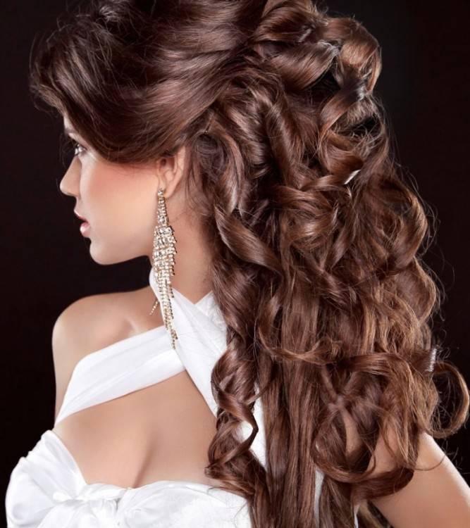 Brautfrisur romantische Hochsteckfrisuren lange Haare Brautfrisuren: offen
