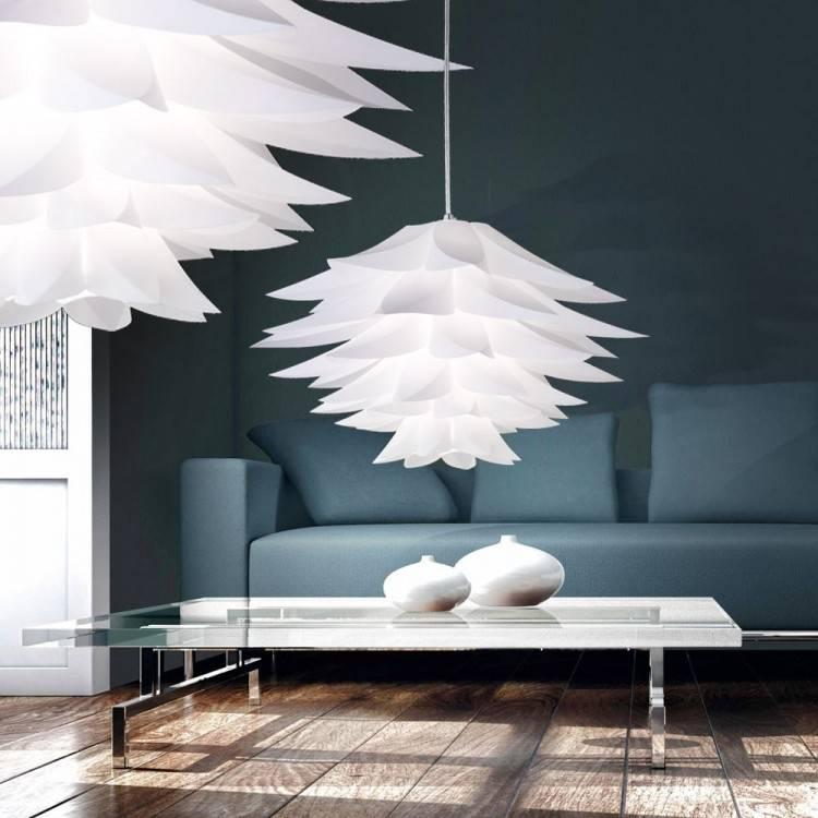 Elegante weiße wolken Pendelleuchten