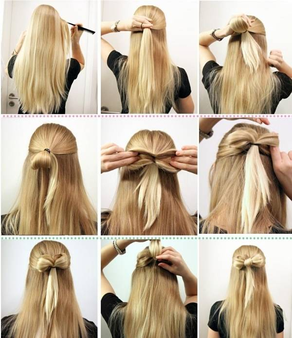 frisur lange haare alltag