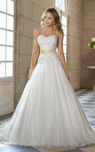 Luxury Weiße Brautkleider Spitze A line Träger Hochzeitskleider Mit Schleppe