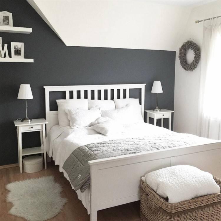 Ein Schlafzimmer, u