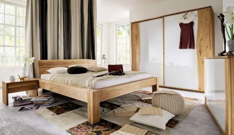 Massivholz Schlafzimmer 140 Kiefer creme lack