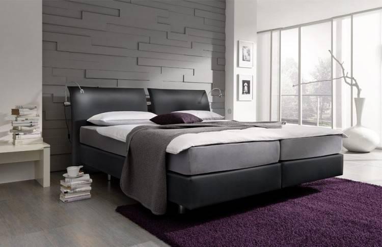 Schlafzimmer Komplett Set weiss mit Boxspringbett  180x200cm+Schwebetürenschrank B