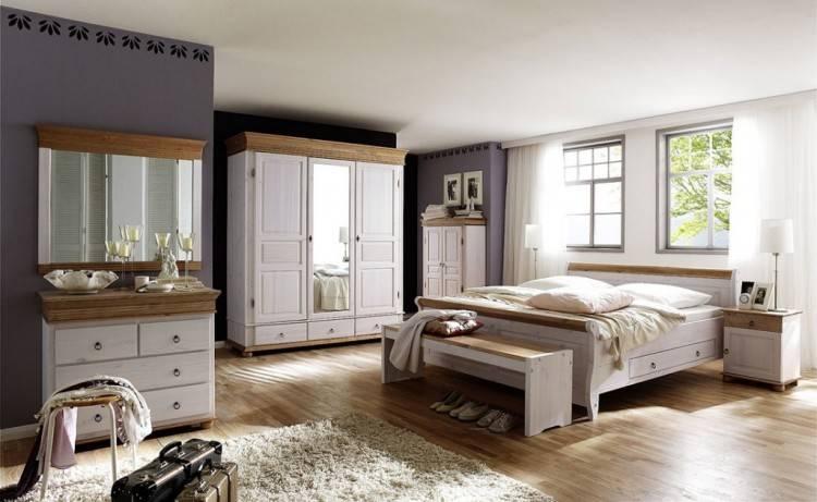 Schlafzimmer komplett massiv Kiefer Mex