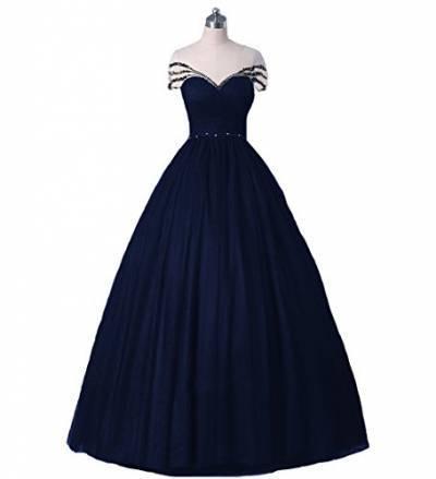 W Frauen Appliques Spitze Vintage Hochzeitskleider Formales Lange Gotisch Brautkleider(Navy Blau, 42)
