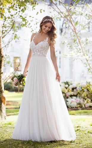 Schlicht A Linie Brautkleider Weiß Mit Träger Bodenlang Hochzeitskleider Günstig Online