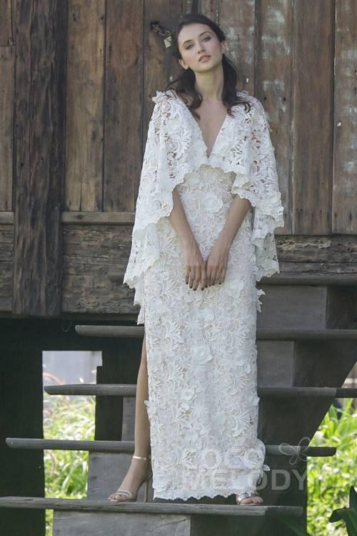 MAGIC BRIDE 2016 Brautkleid / Etui Kleid / Hochzeitskleid Elfenbein Gr