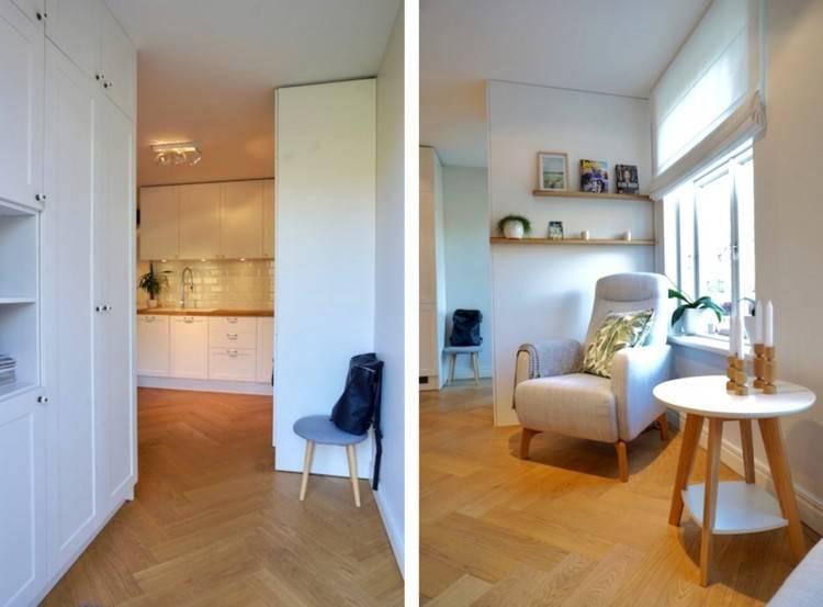 mit KNOXHULT Unterschrank mit Türen und  Schublade in Weiß und einem Wandschrank in Weiß kombiniert mit einer  Dunstabzugshaube