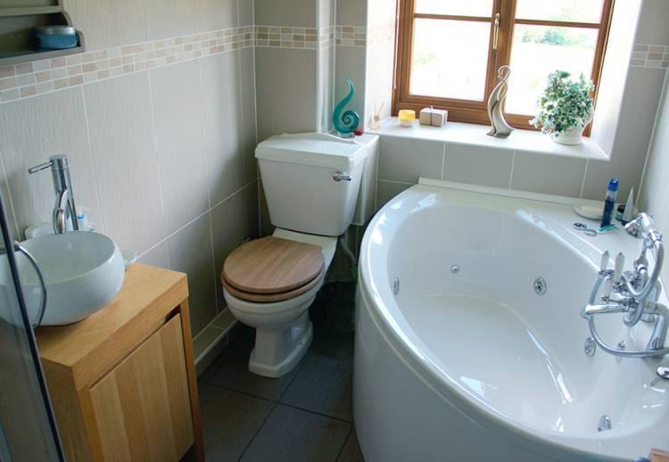 Raumsparende Wanne und Dusche
