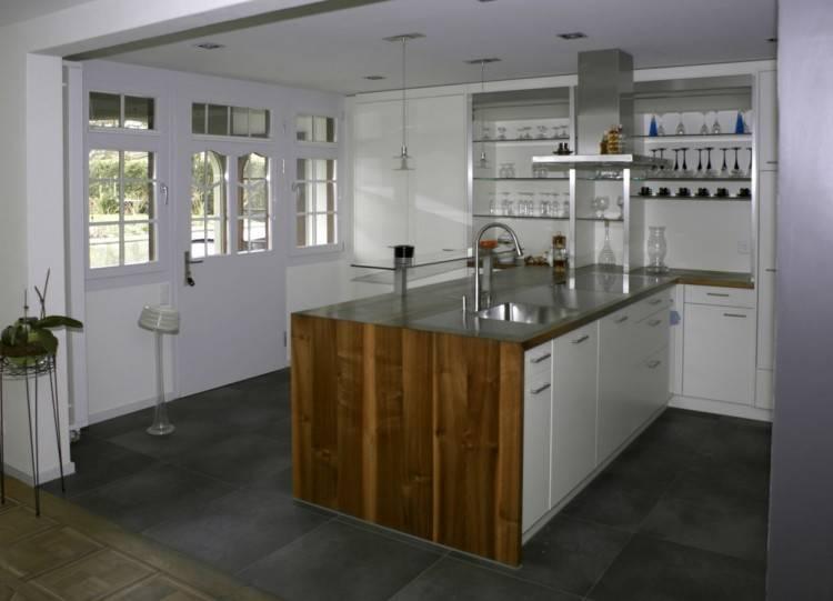 Schwarze Küche Bauernhaus Schön Elegant Küchen Ideen U form  Auctionbasedonemotions