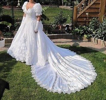 Hochzeitskleid Schleppe Ivory Gr