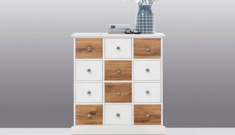 Räume, Schlafzimmer, Kommoden + Sideboards, Schubladenkommode, Schubladenkommode als Wohnzimmerschrank, graphitfarbene Glasfronten – vier Schubladen