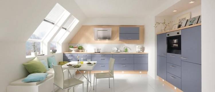 Erstaunlich Kleine Küche Dachschräge Ikea Small Kitchen White