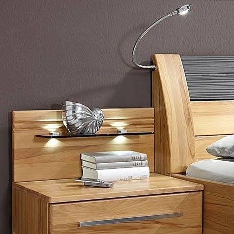 MONDO Schlafzimmer NAZZA Lack Kristallgrau Hochglanz/Abs