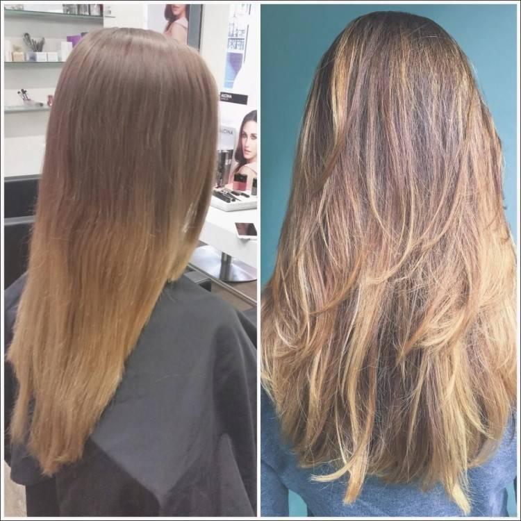 Frauen Frisuren lange Haare schneiden