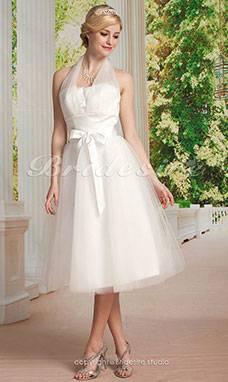 Mingxuerong Spitzen Lang Rückenfrei Hochzeitskleid Empire Stil Aline Brautkleid Empire Elfenbein tIGTfeN