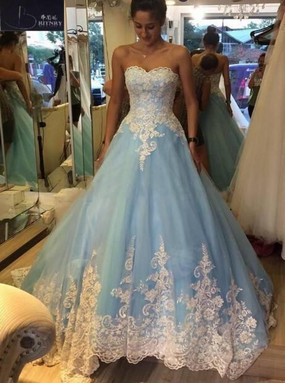 Hochzeitskleid chiffonkleid kinderkleid minikleid Strass gebraucht blau babyblau 3
