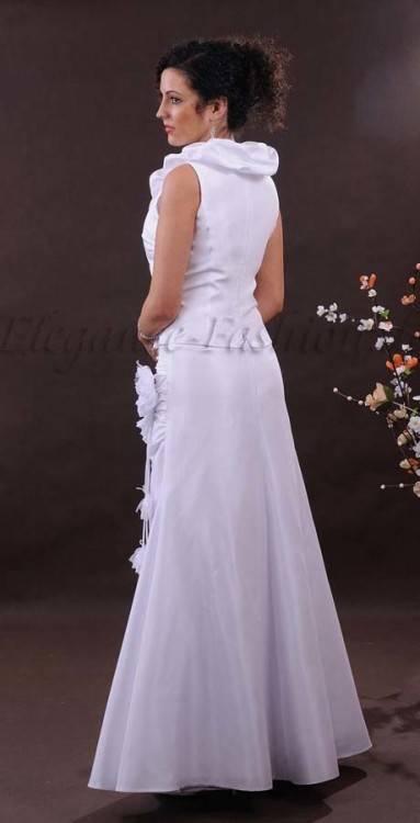 Großhandel Sexy Herzförmiger Kragen, Rosa Ausschnitt, Netzrückengurt, Ärmelärmel, Brautkleid, Applikation, Mattiertes Kleid, Hochzeitskleid