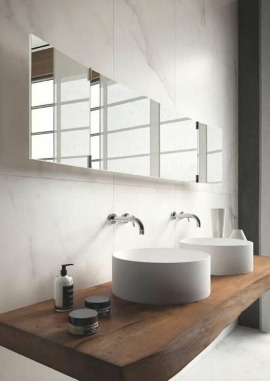 105 Badezimmer Design Ideen – Stein und Holz kombinieren