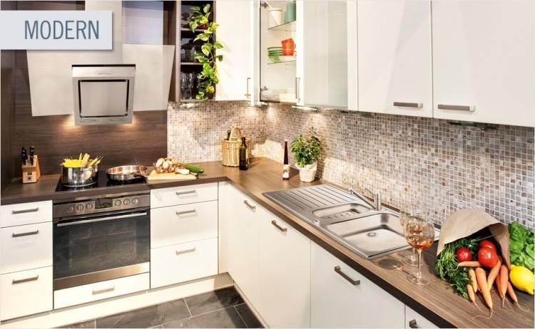 Geplante Küchen von HORNBACH: Küchentrend Modern Lightning Sorbet