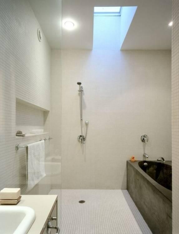 Kleine Bäder mit Badewanne und Dusche einrichten – 32 Ideen | #Badezimmer