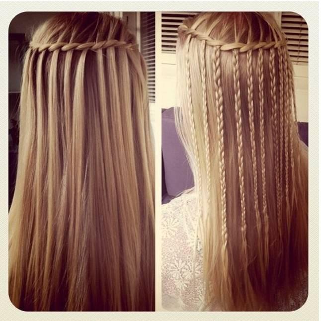 Schöne geflochtene Frisuren für langes Haar