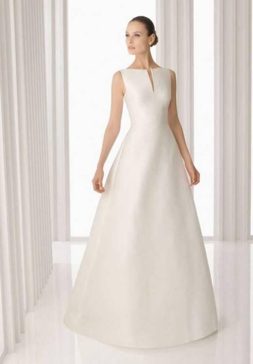 Hochzeitskleider schlicht Standesamtkleider Brautkleider stylish