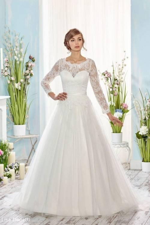 Großhandel 2018 Langarm Mermaid Brautkleider Spitze Tüll Pailletten Sweep  Zug Land Hochzeitskleid Mit Passenden Schleier Plus Size Brautkleider Von  Dressvip