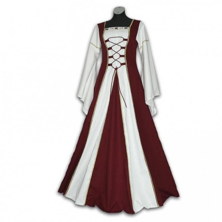 Elfenkleid Eomore Mittelalterkleid Feenkleid Brautkleid Kapuze